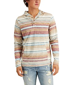 Men's Yarn-Dyed Blanket Striped Hoodie, Created for Macy's