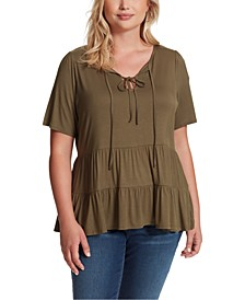 Trendy Plus Size Joss Tiered Top