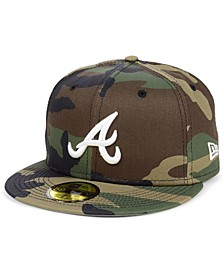 Atlanta Braves Woodland Basic 59FIFTY Cap