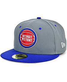 Detroit Pistons Storm 2 Team Color 59FIFTY Fitted Cap