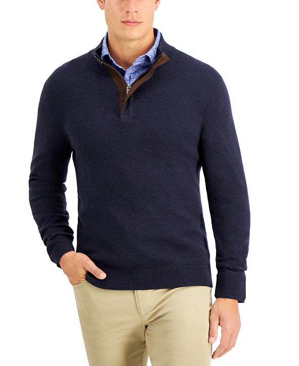 Tasso Elba Men's Quarter-Zip Sweater, Created for Macy's