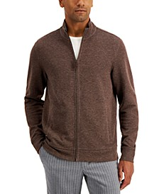 Men's Birdseye Full-Zip Sweater, Created for Macy's