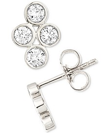 Diamond Bezel Stud Earrings (1/4 ct. t.w.) in Sterling Silver