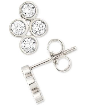 Diamond Bezel Stud Earrings (1/4 ct. t.w.) in Sterling Silver