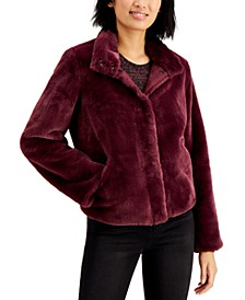 Marayln & Me Juniors' Faux-Fur Jacket