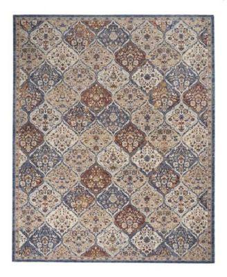 "Taza Panel TAZ03 Blue 8'3"" x 11'6"" Area Rug"
