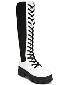 Women's Dinah Lace-Up Lug Sole Combat Boots
