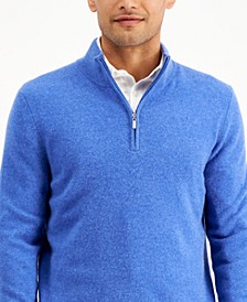 Men's Quarter-Zip Cashmere Sweater, Created for Macy's