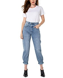 Juniors' High-Rise Straight-Leg Jeans