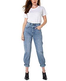 Kendall + Kylie Juniors' High-Rise Straight-Leg Jeans