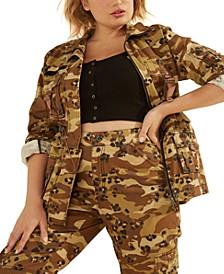 Kammie Camo-Print Cargo Jacket