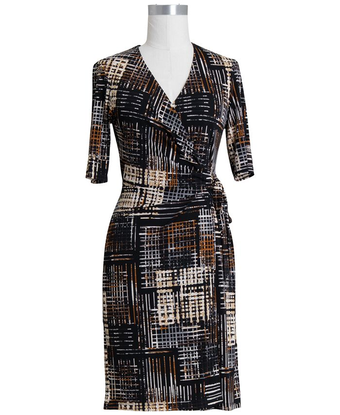 Connected - Printed Wrap Dress