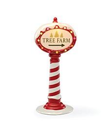 Light-Up Tree Farm Sign