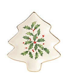 Hosting The Holidays Tree Plate