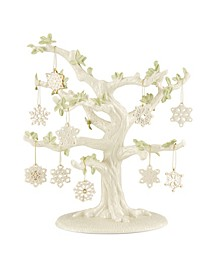 Snowflake 10-Piece Ornament & Tree Set