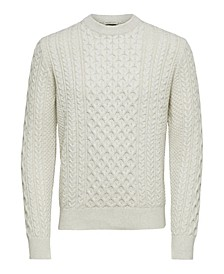Homme Men's Cable Knit Sweater
