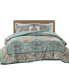 Deliah 4 Piece Full/Queen Comforter Set