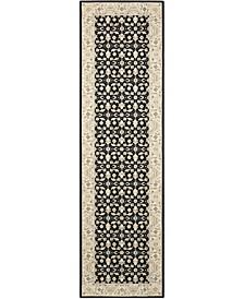 """Persian Empire PE26 Black 2'3"""" x 8' Runner Rug"""