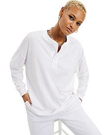 Danielle Bernstein Cotton Henley Top, Created for Macy's