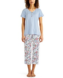 Women's Cotton Capri Pajama Set, Created for Macy's