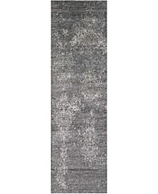 "Silk Shadows SHA14 Charcoal 2'3"" x 8' Runner Rug"