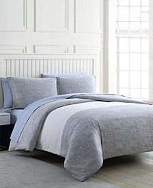 Connery Stripe Full or Queen Comforter Set