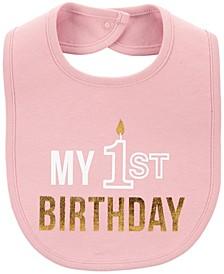Baby Girl My 1st Birthday Teething Bib