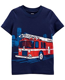 Toddler Boy Firetruck Jersey Tee