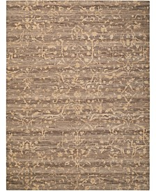 "Silk Elements SKE22 Taupe 5'6"" x 8' Area Rug"