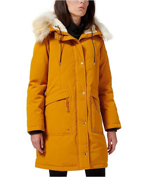 Sam Edelman Faux Fur Trim Hooded Puffer Coat Reviews Coats Women Macy S