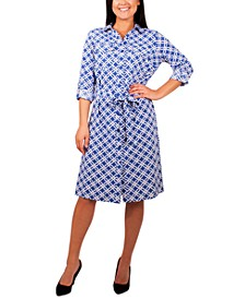 Petite Printed Shirtdress