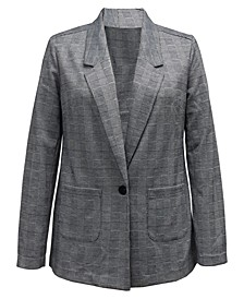 Petite Plaid Blazer, Created For Macy's