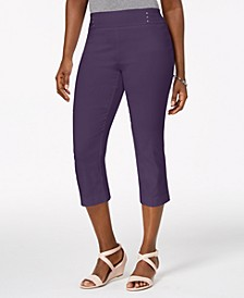 Petite Rivet-Detail Tummy Control Capri Pants, Created for Macy's