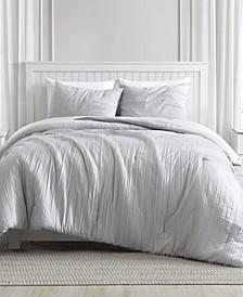 Greenport Crinkle Comforter Set in 3-Piece, Queen