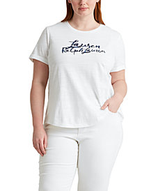 Lauren Ralph Lauren Plus Size Nautical-Inspired Top