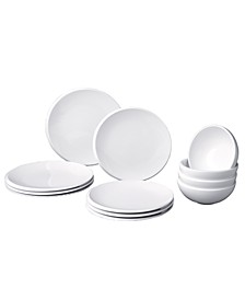 New Moon 12 Piece Dinnerware Set, Service For 4