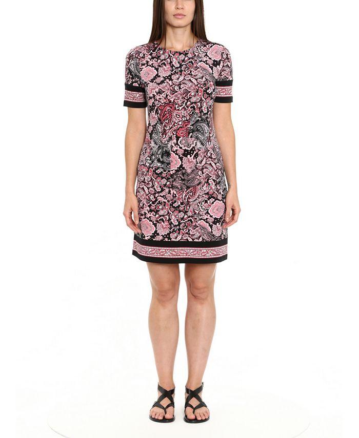 Michael Kors - Plus Size Printed Border-Hem Dress