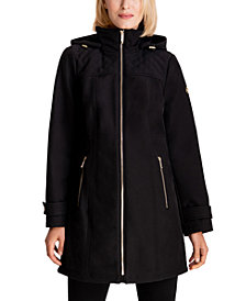 MICHAEL Michael Kors Hooded Water-Resistant Raincoat, Created for Macy's