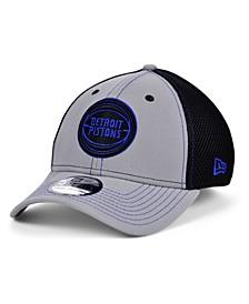 Detroit Pistons Gray Black Pop 39THIRTY Cap