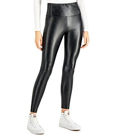 Juniors' High-Rise Faux-Leather Leggings