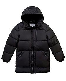Big Boys Stadium Length Puffer Jacket
