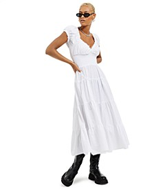 Solid Poplin Midi Dress, Created for Macy's