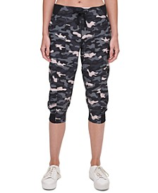 Camo Cropped Cargo Pants