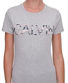 Cotton Camo-Logo T-Shirt