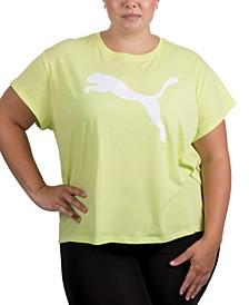 Plus Size Cropped Cotton Logo T-Shirt
