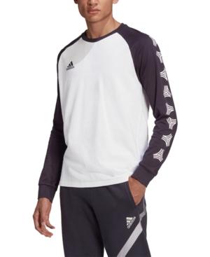 adidas Men's Tan Logo Long-Sleeve Tee