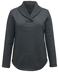Shawl Collar Fleece Top, Created for Macy's
