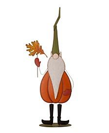 "48"" Fall Metal Gnome Standing Decor Kid"