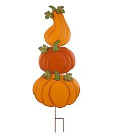 """42"""" Metal Pumpkin Yard Stake or Hanging Decor"""