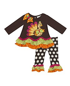 Baby Girls Turkey Applique Legging Set